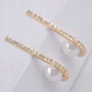 Kate Spade Diamond J Pearl Gold Earrings